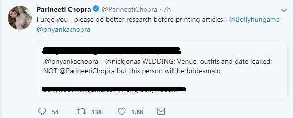 India Tv - Parineeti Chopra's Tweet