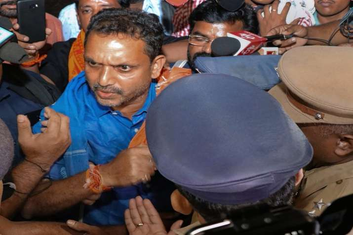 India Tv -   Surendran and two others with him had been taken into preventive custody on Saturday night and brought to the Chittar police station, about 50 km from Sabarimala, after they forcibly tried to leave for the hill shrine at Sabarimala.