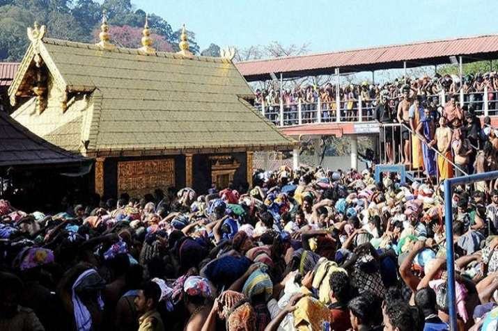 India Tv - The Kerala government on Monday strongly opposed a plea by a BJP functionary, seeking to restrain non-Hindus and non-idol worshippers inside the Sabarimala temple, saying the hill shrine was a