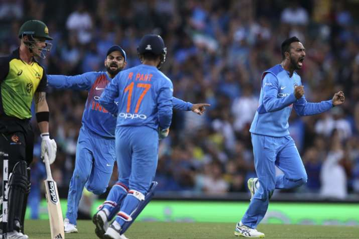 India Tv - Krunal Pandya starred with the ball in the third and final T20I in Sydney on Sunday