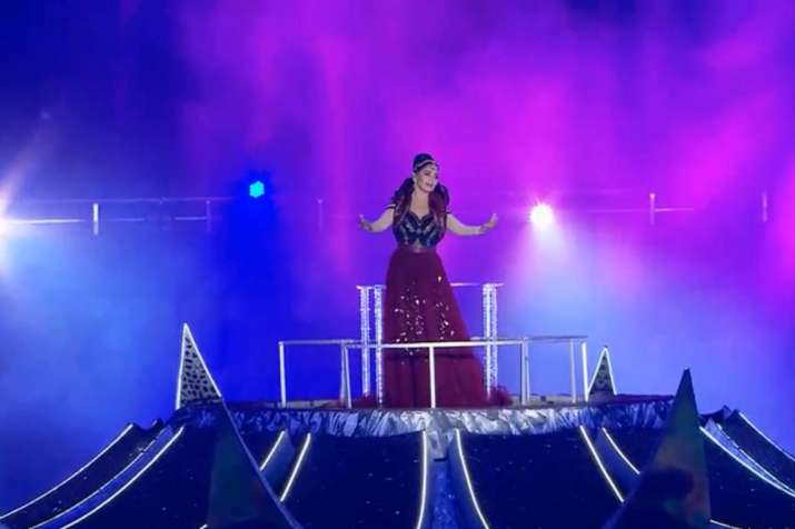 India Tv - Hockey World Cup 2018 Opening Ceremony: Madhuri captivates with her elegant performance