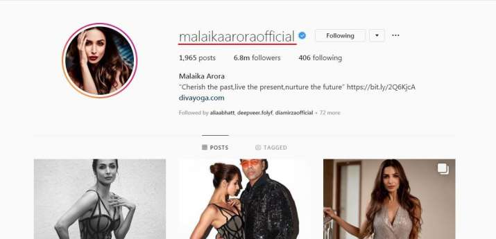 India Tv - Malaika Arora removed Khan from her name.