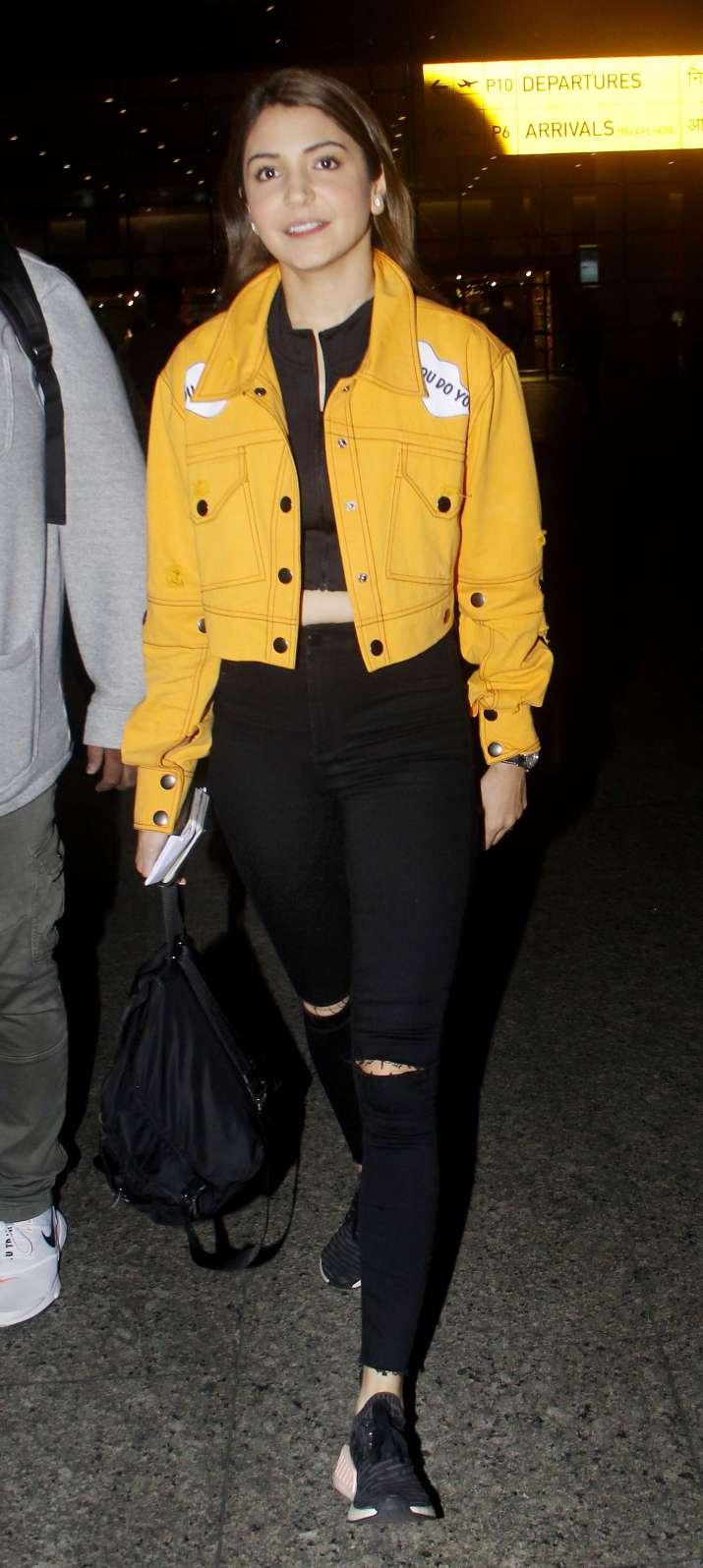 India Tv - Anushka Sharma spotted at Mumbai airport