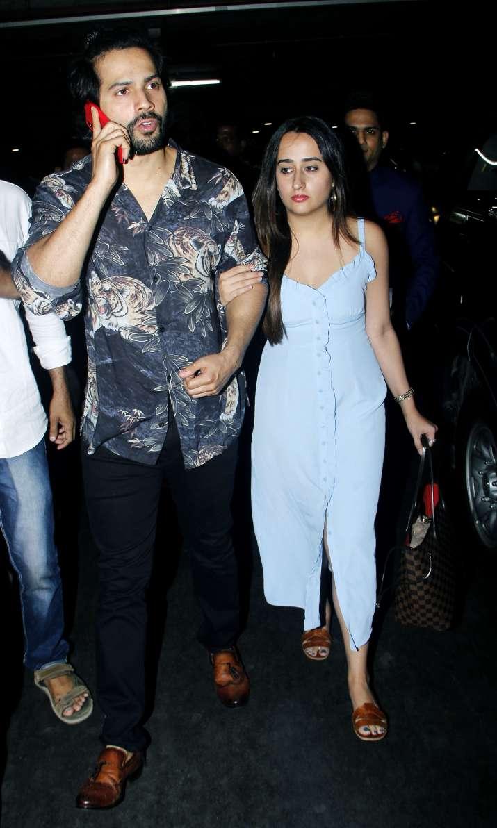 India Tv - Varun Dhawan and Natasha Dalal at Mumbai airport.