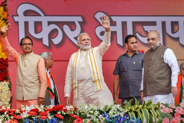 Top BJP leaders including Prime Minister Narendra Modi,