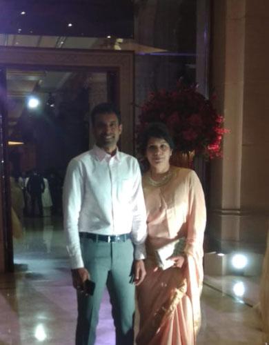 India Tv - Pullela Gopichand arrives at DeepVeer's wedding reception.