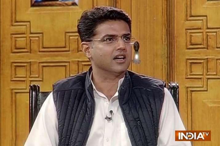 India Tv - Rajasthan Congress president Sachin Pilot in Chunav Manch . (IndiaTV)