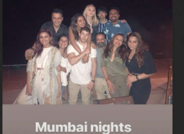India Tv - Nick Jonas shared the picture of their whole gang and wrote 'Mumbai Nights'
