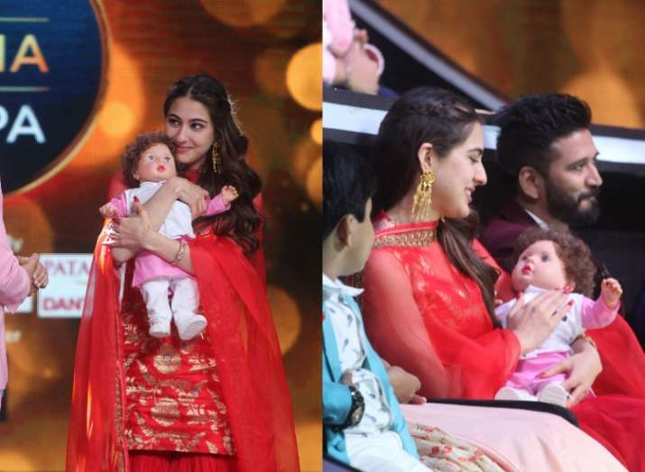 Sara Ali Khan receives Taimur doll as she promotes Kedarnath