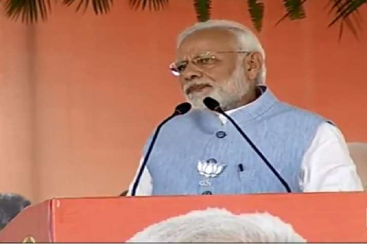 PM Modi who is on a campaign trail in the poll-bound states