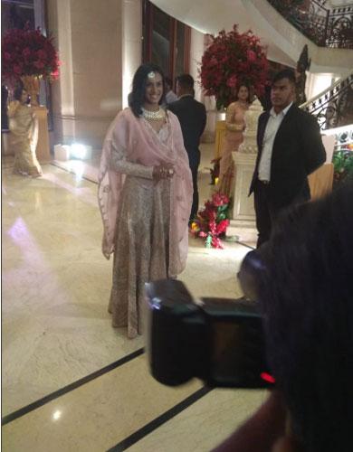 India Tv - PV Sindhu at Deepika-Ranveer wedding reception