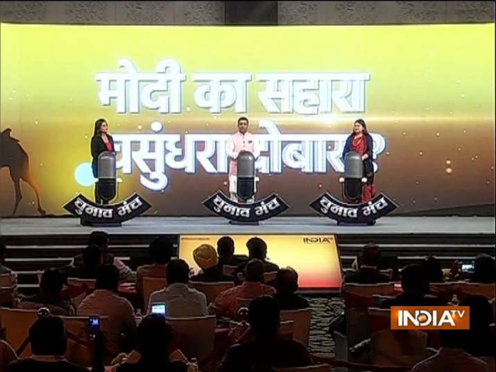 India Tv - BJP's Gaurav Bhatia and Congress' Ragini Nayak in Chunav Manch