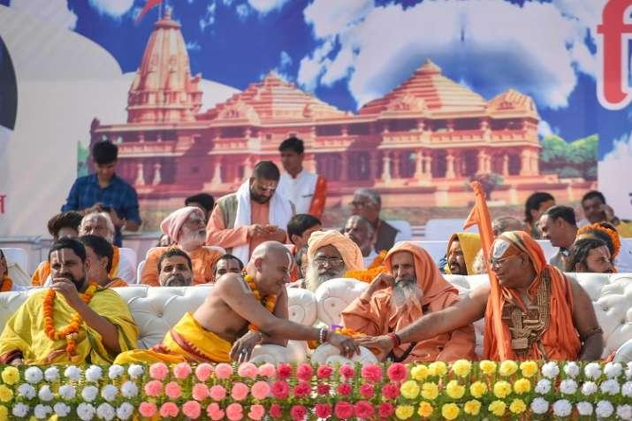 India Tv - Addressing the sabha after the inauguration marked by chanting of mantras at the Badey Bhaktmaal ki Bagia, Ramji Das of Nirmohi Akhara said: