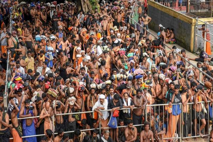 India Tv - The Kerala government is likely to convene an all-party meeting to discuss various matters relating to the Sabarimala temple, which has been rocked by the issue of entry of women in the menstrual age, ahead of the annual pilgrim season commencing this week.