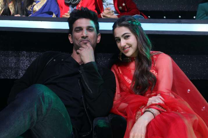 India Tv - Sara Ali Khan Sushant Singh Rajput pictures