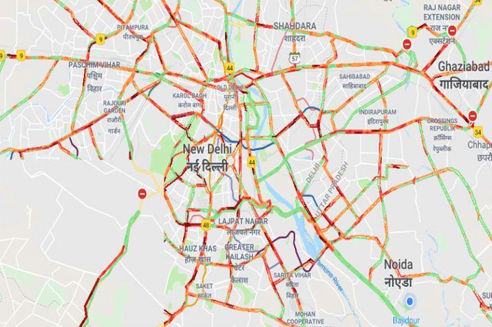 India Tv - Delhi Traffic @ 6 PM