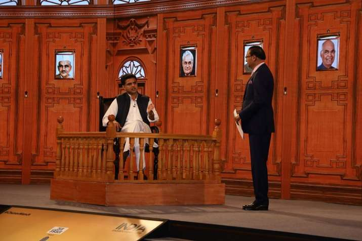 Sachin Pilot at India TV Chunav Manch Rajasthan