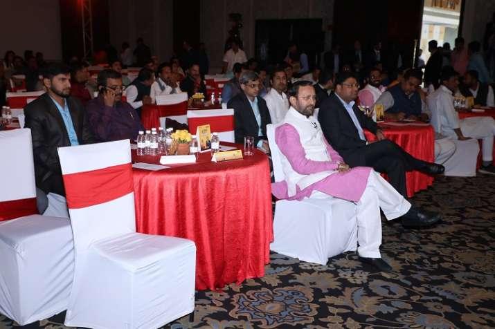 India Tv - HRD MinisterPrakash Javdekar seated among guests