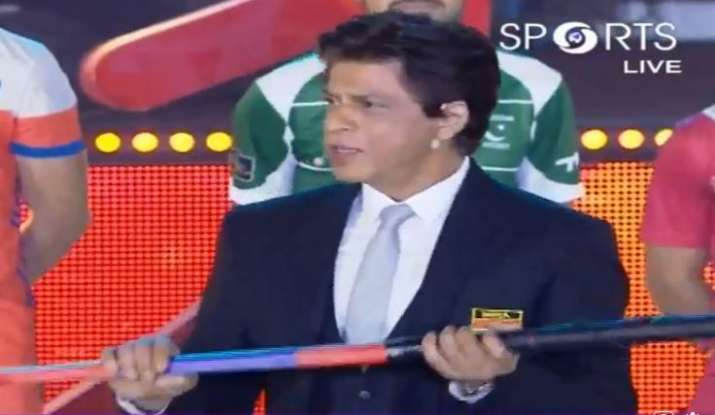 India Tv - Shah Rukh Khan at Hockey World Cup