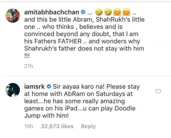 India Tv - Here's Shah Rukh Khan's reaction to AbRam calling Amitabh Bachchan his grandfather