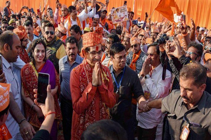 Shiv Sena leader Uddhav Thackeray who arrived in Ayodhya
