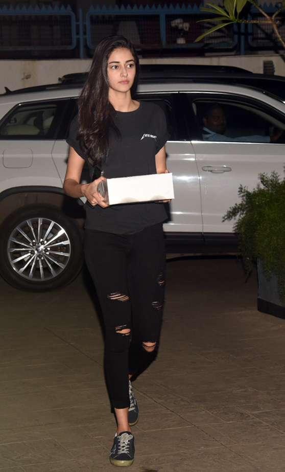 India Tv - Ananya Panday atShanaya Kapoor's birthday party