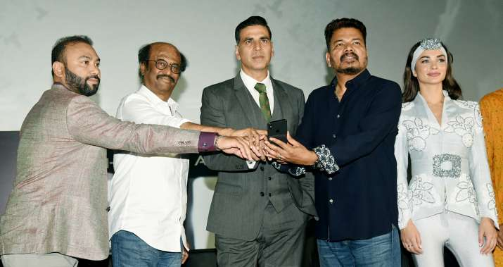 India Tv - 2.0 cast at trailer launch event in Chennai.