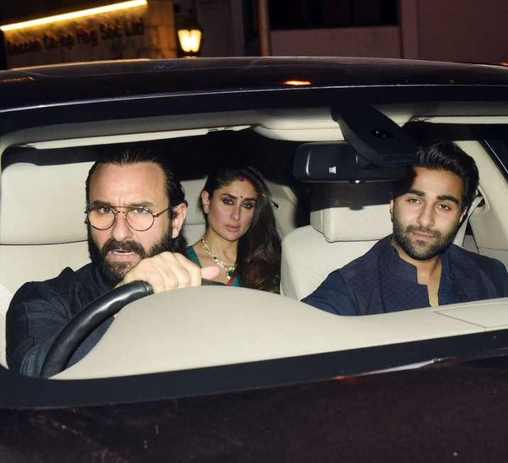 India Tv - Kareena Kapoor arrive at KJo's Diwali bash with Saif Ali Khan