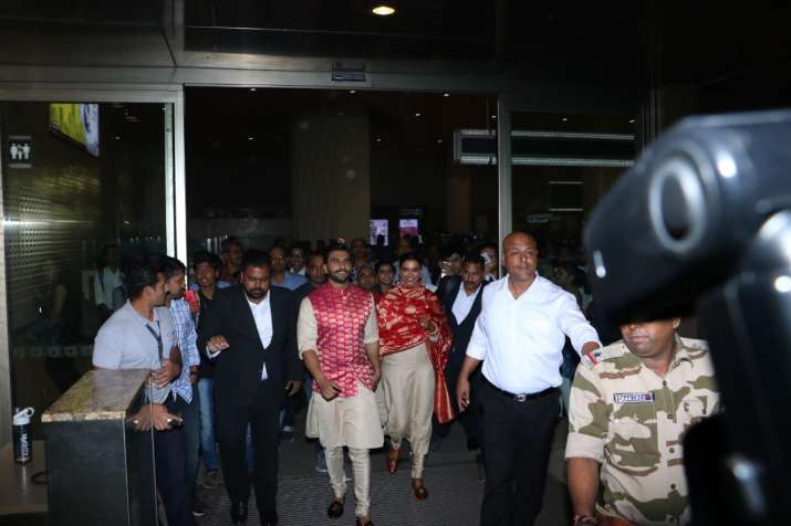 India Tv - Ranveer and Deepika back from Italy