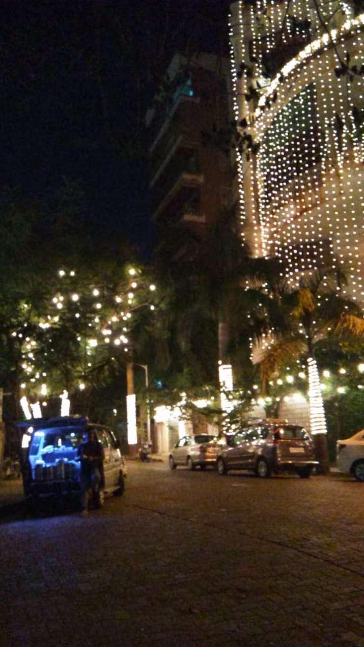 India Tv - Priyanka Chopra's Mumbai residence is all lit up