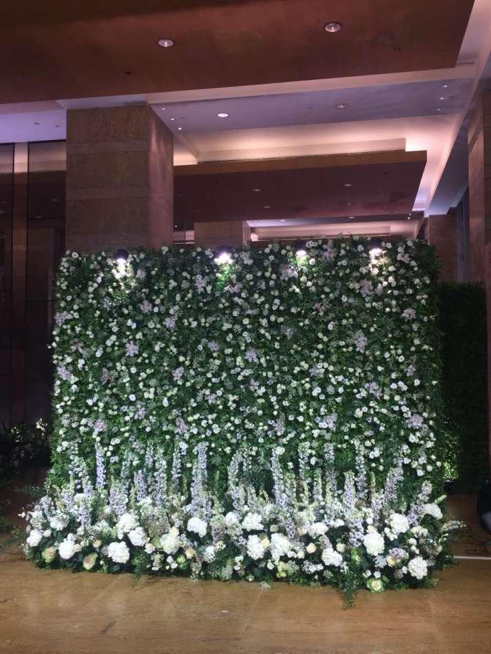 India Tv - Hotel Grand Hyatt decorations for Mumbai reception