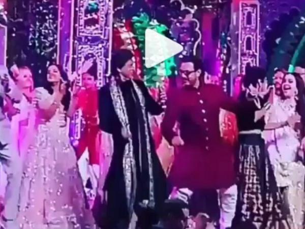 Videos: SRK grooves with Aamir Khan, Salman Khan dances to