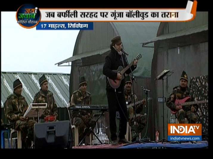 Mohit Chauhan and his team during the concert in Sikkim