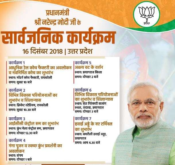 India Tv - PM Modi's schedule in Rae Bareli.