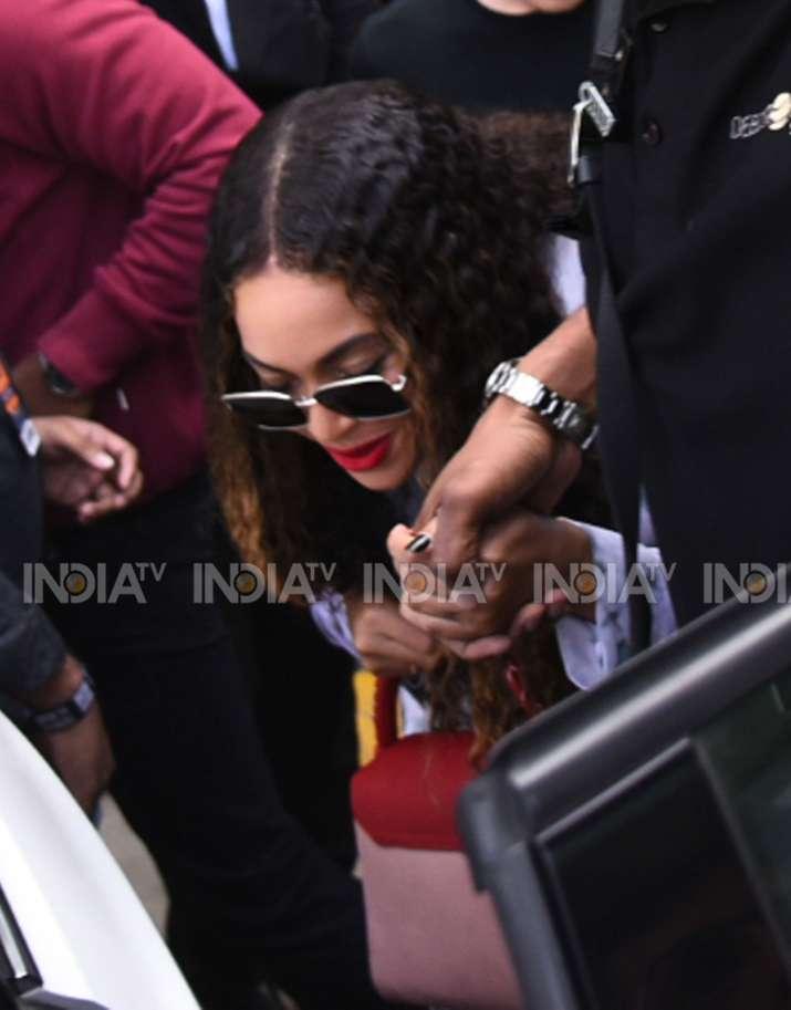 India Tv - Singer Beyonce arrives in Udaipur