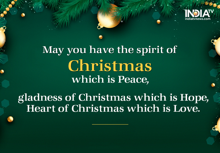 India Tv - Merry Christmas quotes
