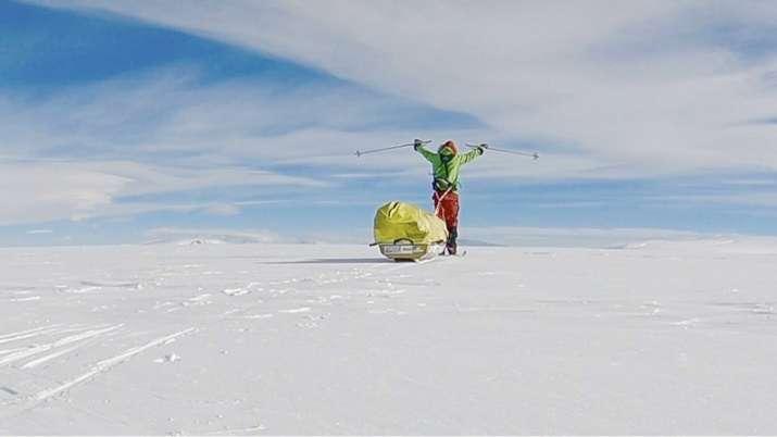India Tv - 2nd man nears end of historic solo trek across Antarctica