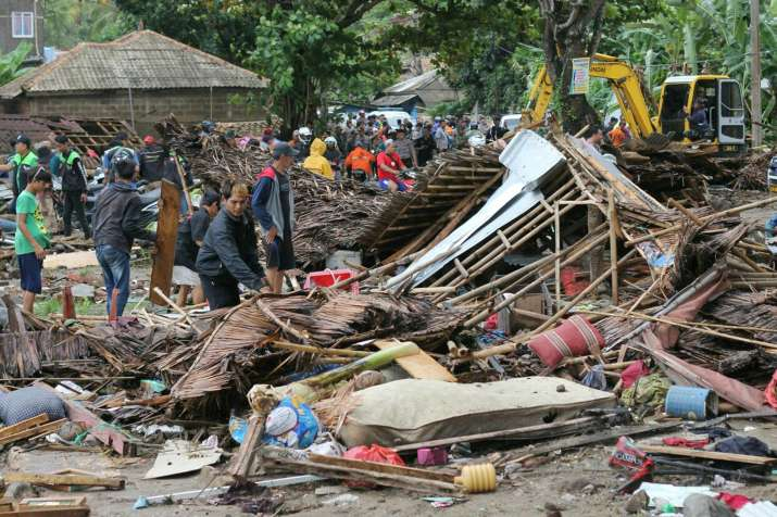 India Tv - Devastation caused by latest tsunami in Indonesia
