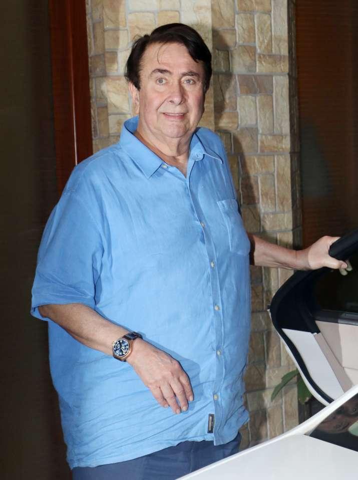 India Tv - Grandfather Randhir Kapoor for Taimur's birthday bash