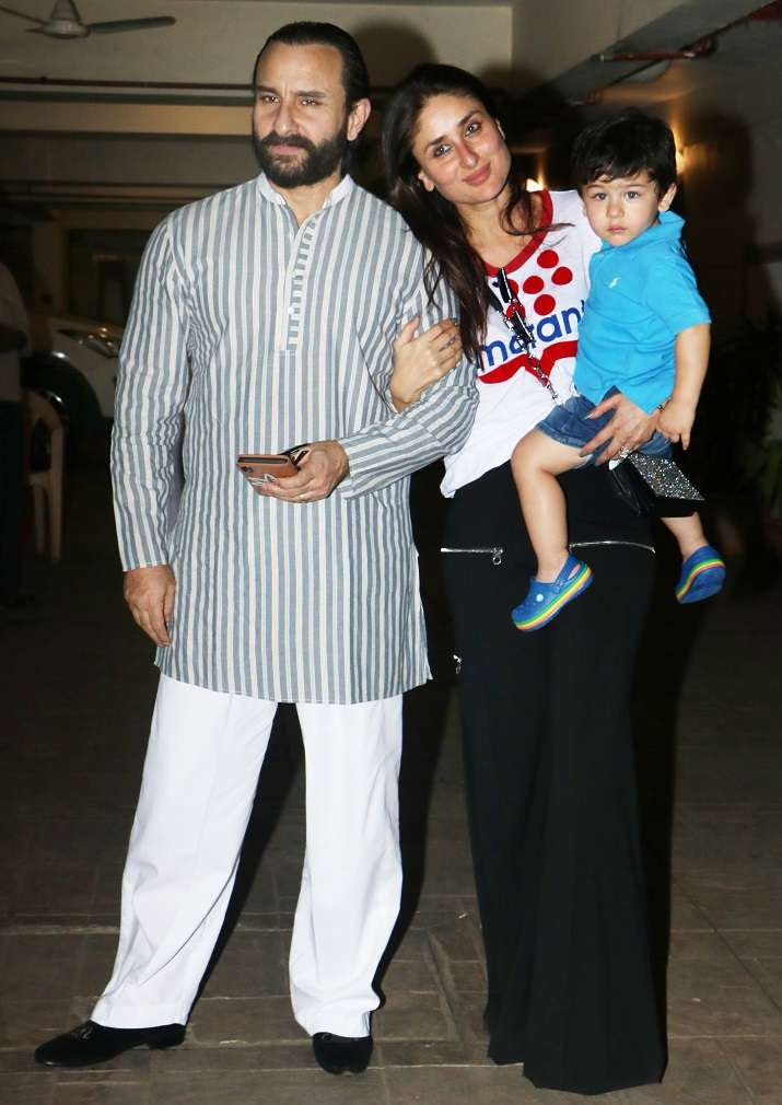 India Tv - Kareena, Saif with Taimur