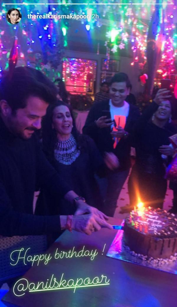 India Tv - Inside Anil Kapoor birthday celebration