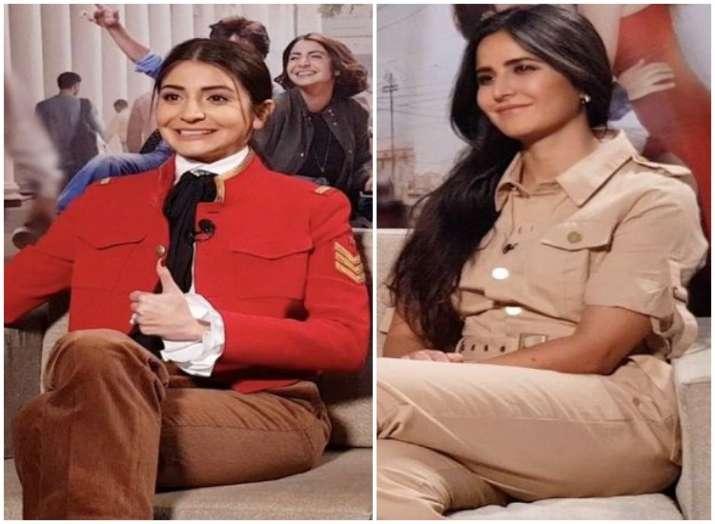 India Tv -  Anushka Sharma nails pants-fashion, Katrina Kaif masters boho-look; CATCH all Zero promotional looks here!
