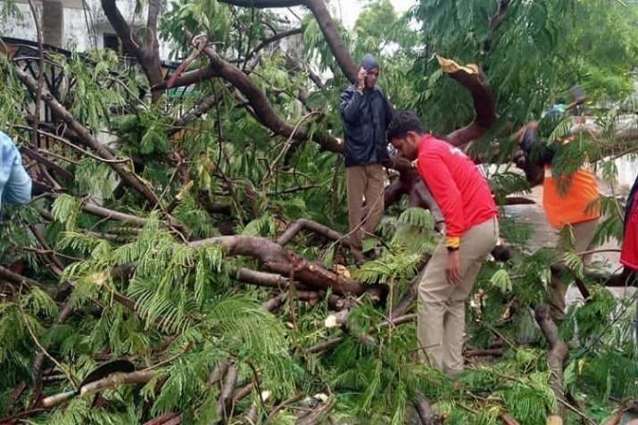 One person was killed in a landslide caused by heavy rains