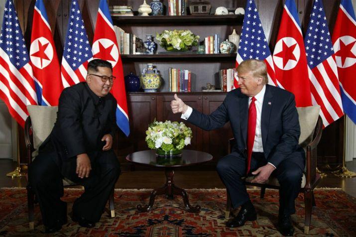India Tv - Kim Jong Un and Donald Trump met in Singapore