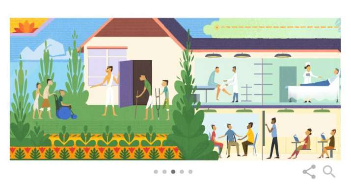 India Tv - Google Doodle pays tribute to social activist Baba Amte on 104th birth anniversary