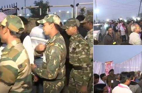 India Tv - Assembly Election Results 2018 Counting Day LIVE Updates: Tight security outside counting centre in Chhattisgarh capital Raipur.