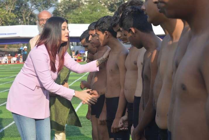 India Tv - Aishwarya Rai Bachchan at asports event