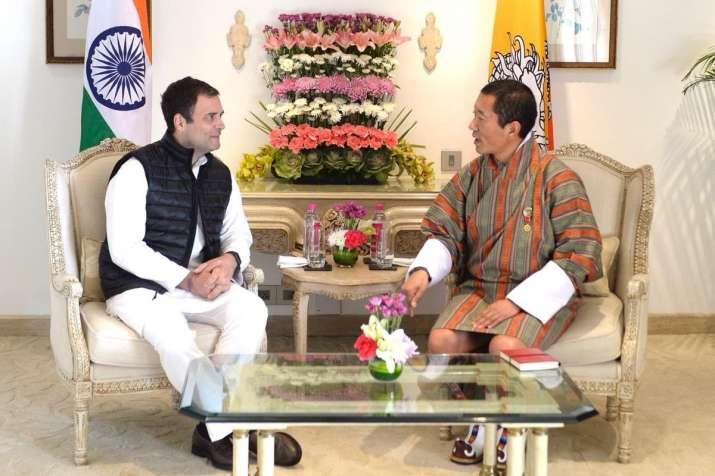Rahul Gandhi meets Bhutan PM Lotay Tshering