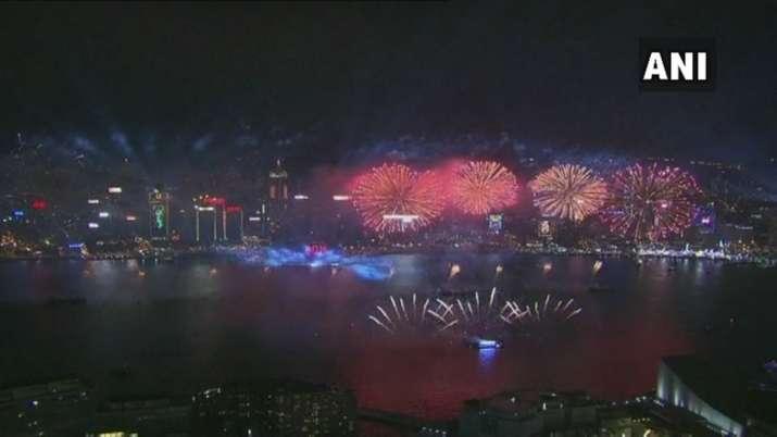 Hong Kong celebrates the new year