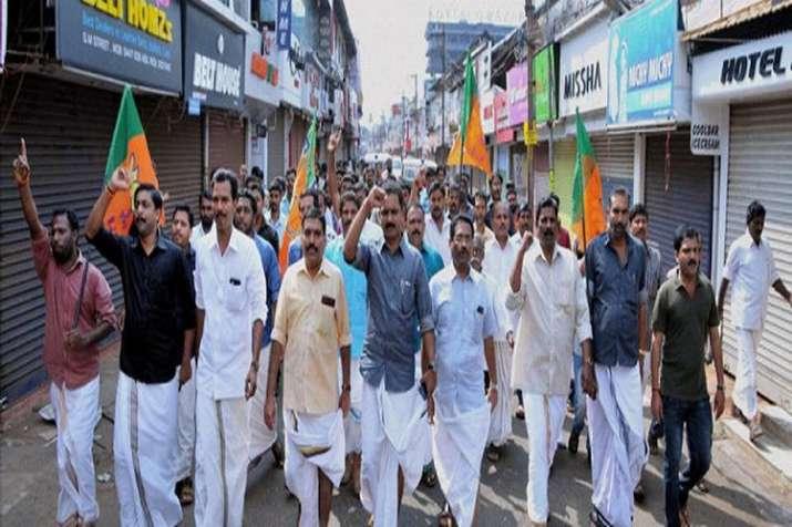 BJP Hartal in Kerala
